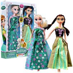 Boneka Elsa bisa nyanyi Frozen let it go sepasang dengan Anna